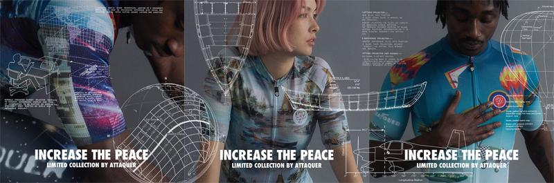 アタッカーの限定ウエアコレクション「INCREASE THE PEACE」