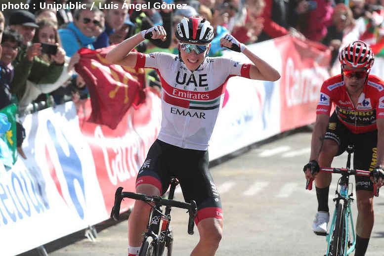頂上ゴールのブエルタ・ア・エスパーニャ2019第13ステージでポガチャルが区間2勝目