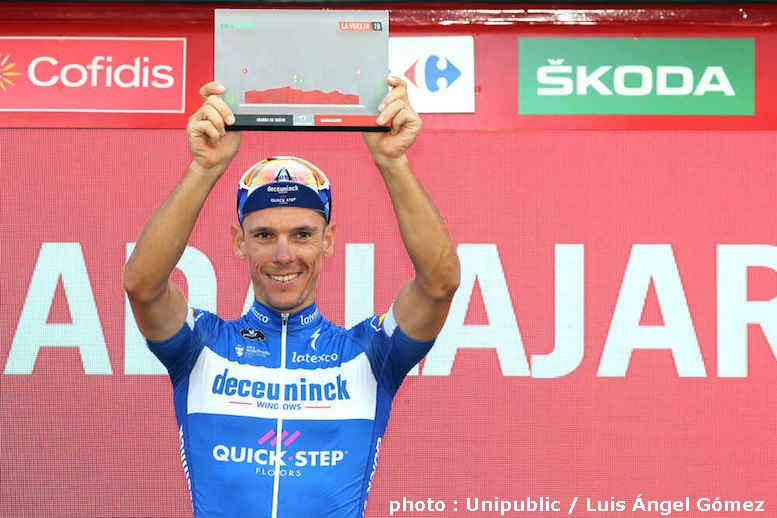 ブエルタ・ア・エスパーニャ2019第17ステージでジルベールが最速記録のリュバン・ジョーヌを受賞