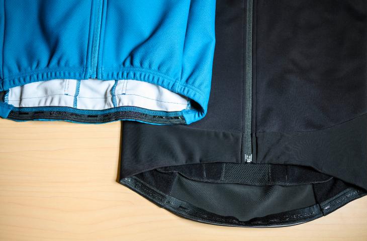 通常のウィンタージャケットとの裾の違い