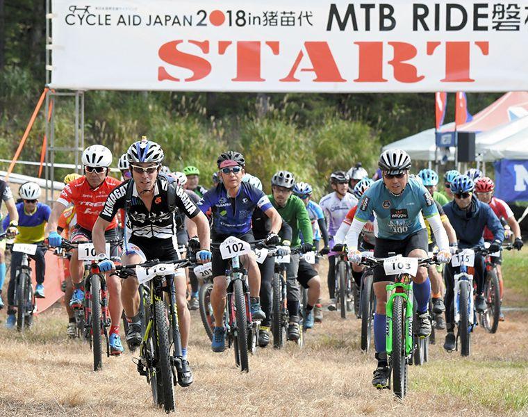 CYCLE AID JAPAN in 猪苗代 MTB RIDE 磐梯山