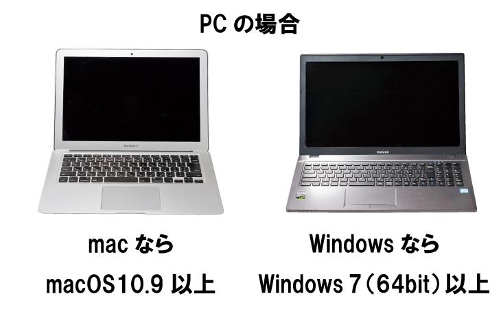 PCの場合の必要なOSについて