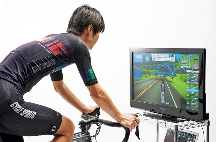 ZWIFTをPC+大画面テレビでプレイするスタイル