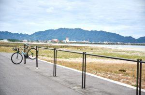 弓ヶ浜サイクリングコースのサイクルラック