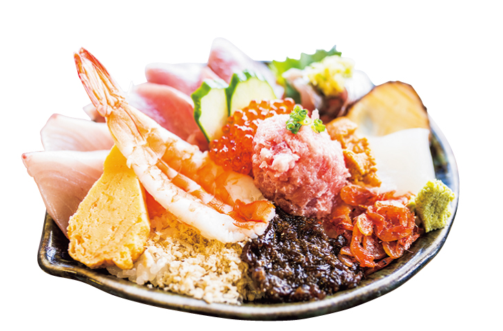 「海上亭」の海鮮丼
