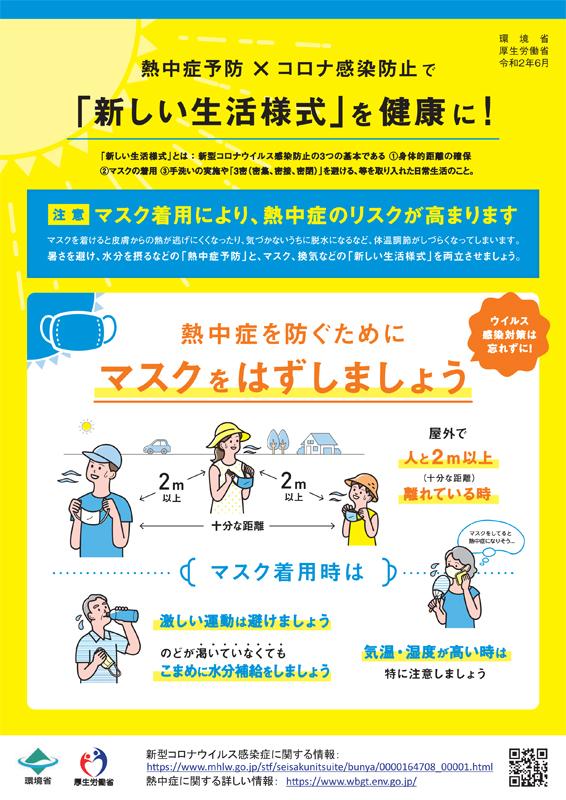 厚労省熱中症対策リーフレット