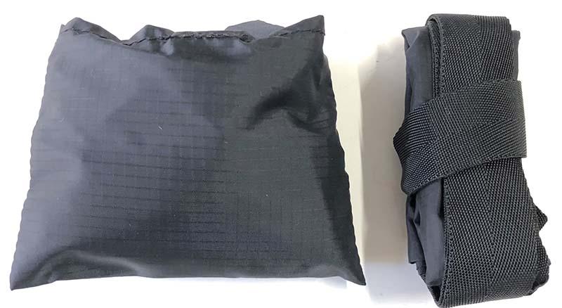 サケッシュの収納用小袋とサコッシュSL-マチ-とサイズ比較