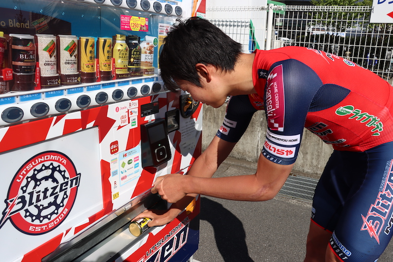 宇都宮ブリッツェン タイヤチューブの自販機