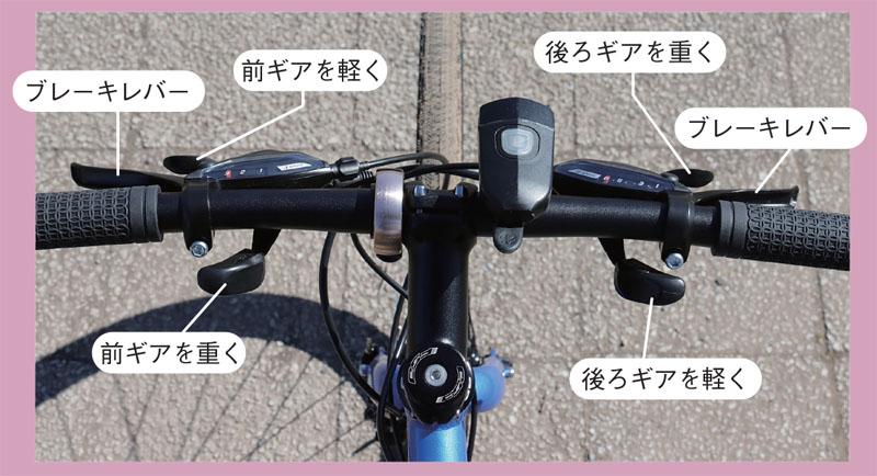 クロスバイクのシフトレバー