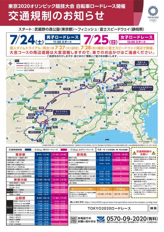 東京五輪の交通規制