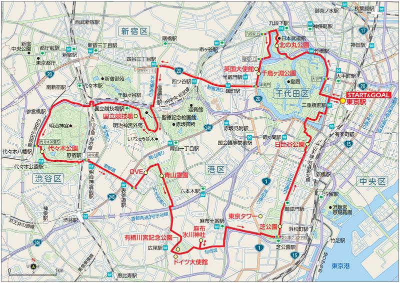 東京サイクリングコース1マップ