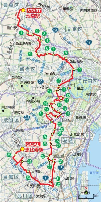 東京サイクリングコース2の地図