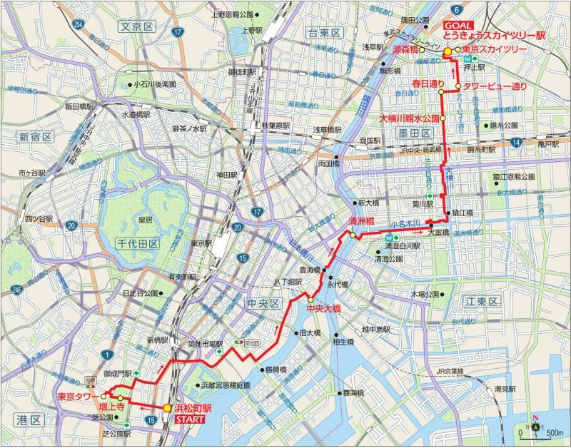 東京サイクリングコース4の地図