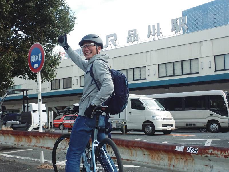 迫田賢一氏と品川駅