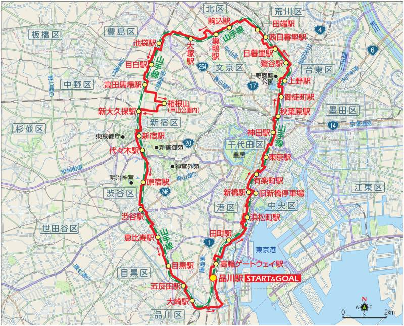 東京サイクリングコース5の地図