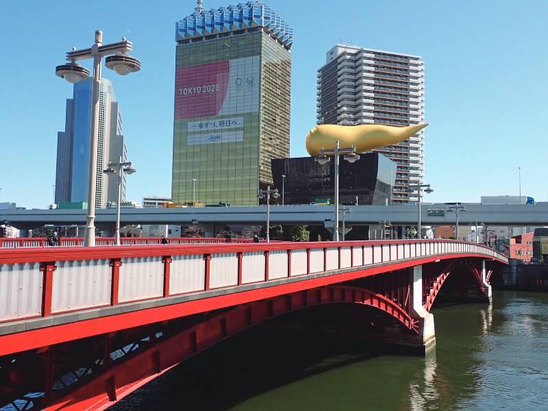 吾妻橋とスーパードライホール