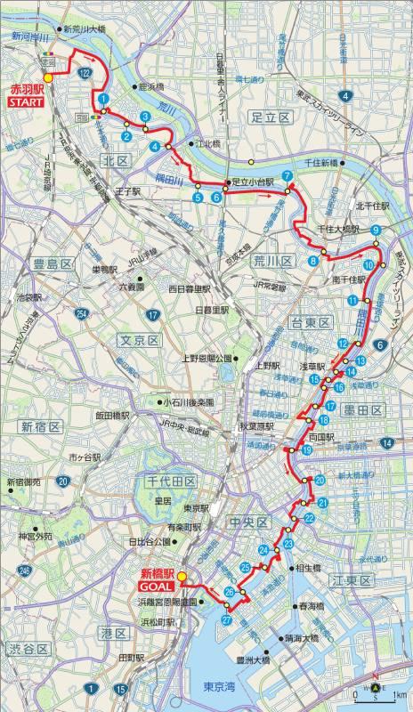 東京サイクリングコース6の地図