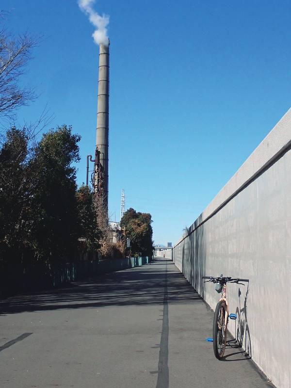 隅田川の年季の入った煙突
