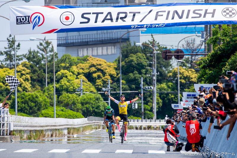 弱虫ペダル サイクリングチームの川野碧己がTOJ2021で区間優勝