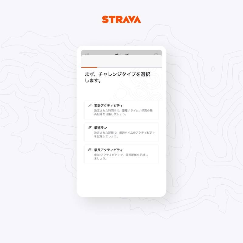 ストラバのグループチャレンジ