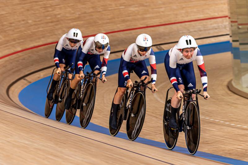 東京五輪トラック競技チームパシュート女子イギリスチーム