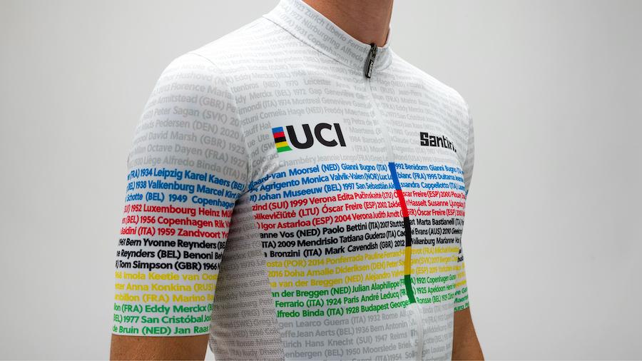サンティーニ「UCI世界選手権チャンピオンジャージ 100周年記念モデル」