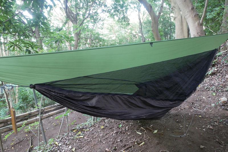 ハンモック式テント