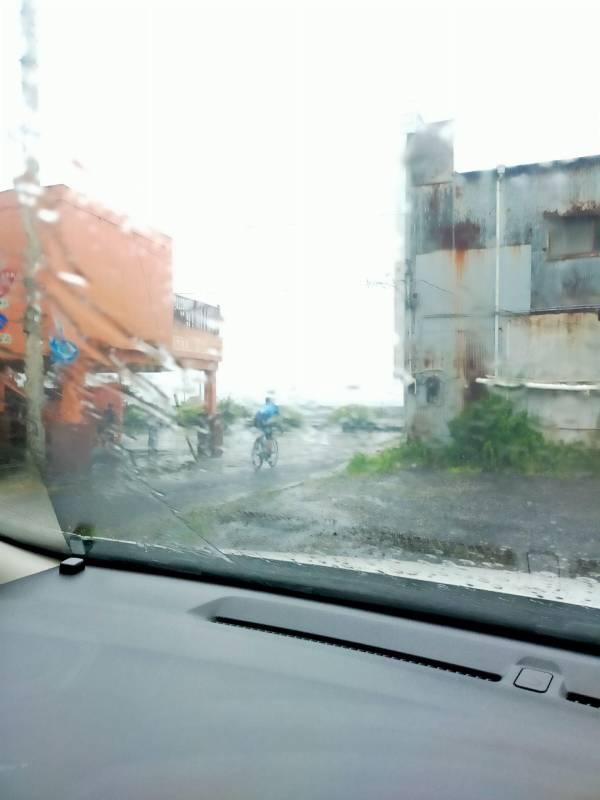 雨の伊東市