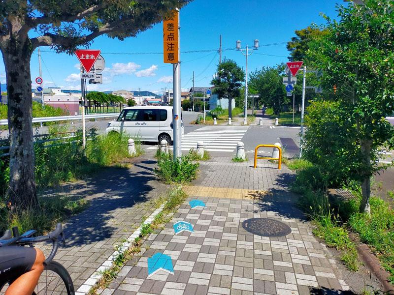 清水駅から先の太平洋岸自転車道